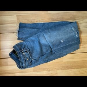 Men's Double Dyed distressed jeans